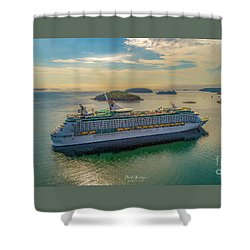 Adventure Of The Seas, Bar Harbor  Shower Curtain