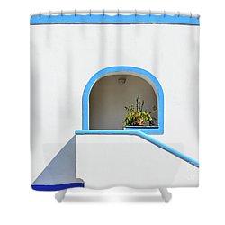 Aeolian Geometry Shower Curtain