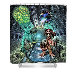 Aethereal Encounter Shower Curtain