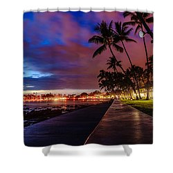 After Sunset At Kona Inn Shower Curtain