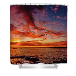 After Sunset Colors At Kailua Bay Shower Curtain