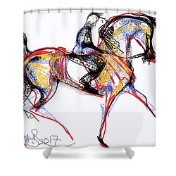 After The Derby Shower Curtain