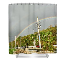 Aguadilla Rainbow Shower Curtain