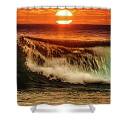 Ahh.. The Sunset Wave Shower Curtain