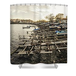 Ahtopol Fishing Town Shower Curtain