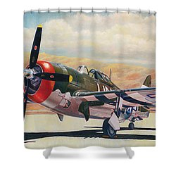 Airshow Thunderbolt Shower Curtain