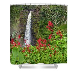 Akaka In Red Shower Curtain