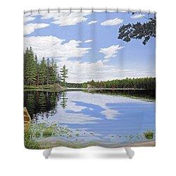 Algonquin Portage Shower Curtain