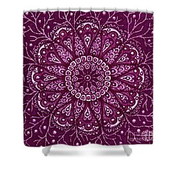 Shower Curtain featuring the painting Alien Bloom 10 by Amy E Fraser