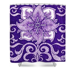 Shower Curtain featuring the painting Alien Bloom 11 by Amy E Fraser