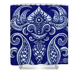 Shower Curtain featuring the painting Alien Bloom 12 by Amy E Fraser
