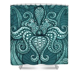 Shower Curtain featuring the painting Alien Bloom 13 by Amy E Fraser