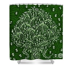 Shower Curtain featuring the painting Alien Bloom 15 by Amy E Fraser