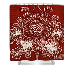 Shower Curtain featuring the painting Alien Bloom 18 by Amy E Fraser