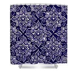 Shower Curtain featuring the painting Alien Bloom 19 by Amy E Fraser
