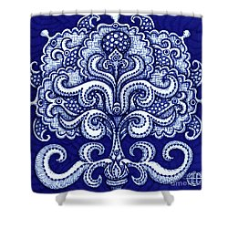Shower Curtain featuring the painting Alien Bloom 2 by Amy E Fraser