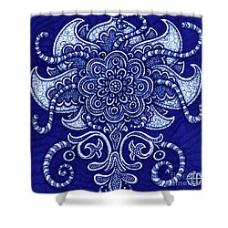 Shower Curtain featuring the painting Alien Bloom 22 by Amy E Fraser