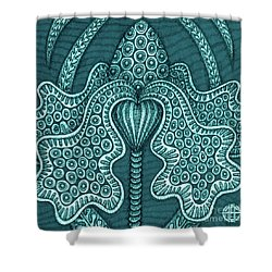 Shower Curtain featuring the painting Alien Bloom 23 by Amy E Fraser