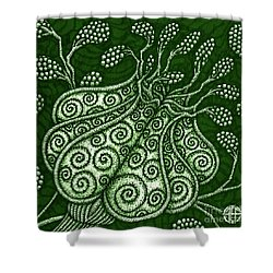 Shower Curtain featuring the painting Alien Bloom 25 by Amy E Fraser