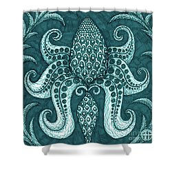Shower Curtain featuring the painting Alien Bloom 3 by Amy E Fraser