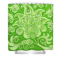 Shower Curtain featuring the painting Alien Bloom 4 by Amy E Fraser
