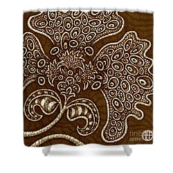 Shower Curtain featuring the painting Alien Bloom 6 by Amy E Fraser