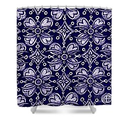 Shower Curtain featuring the painting Alien Bloom 9 by Amy E Fraser
