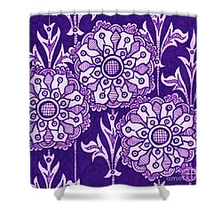 Shower Curtain featuring the painting Alien Bloom 1 by Amy E Fraser