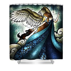 All Dogs Do Go To Heaven Shower Curtain