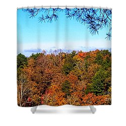 Shower Curtain featuring the photograph All The Colors Of Fall by Rachel Hannah