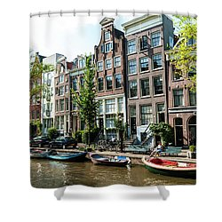 Along An Amsterdam Canal Shower Curtain