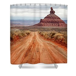 Shower Curtain featuring the photograph Along The Valley Floor by Nicholas Blackwell