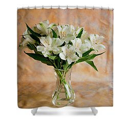 Alstroemeria Bouquet On Canvas Shower Curtain