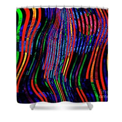 Shower Curtain featuring the digital art Always Between The Lines by Edmund Nagele