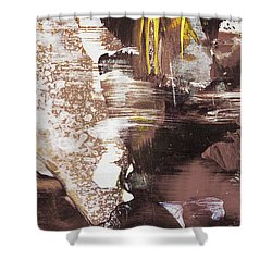 Always On My Mind - Brown Contemporary Abstract Painting Shower Curtain