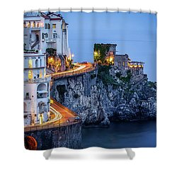 Shower Curtain featuring the photograph Amalfi Coast Italy Nightlife by Nathan Bush