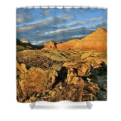 Amazing Clouds Over Ruby Mountain And Colorado National Monument Shower Curtain