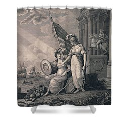 America Guided By Wisdom Shower Curtain