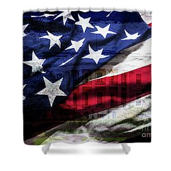 American White House Shower Curtain