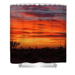 Shower Curtain featuring the photograph An Arizona Sky by Rick Furmanek