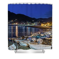 An Evening In Levanto Shower Curtain
