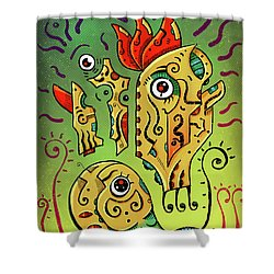 Shower Curtain featuring the digital art Ancient Spirit by Sotuland Art