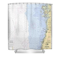 Anclote Keys To Crystal River Noaa Nautical Chart 11409 Shower Curtain