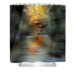 And Autumn Comes  Shower Curtain
