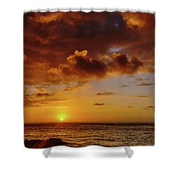 And Then The Sun Set Shower Curtain
