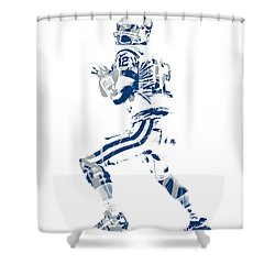 Andrew Luck Indianapolis Colts Pixel Art 6 Shower Curtain