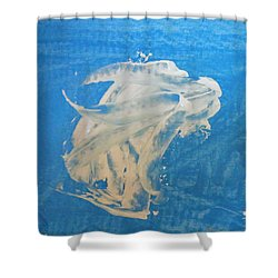 Angel And Dolphin Riding The Waves Shower Curtain
