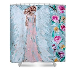 Angel For Childbirth And Shower Curtain