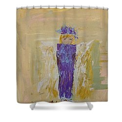 Angel Girl With A Unicorn Shower Curtain
