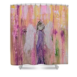 Angel In  Paradise Shower Curtain